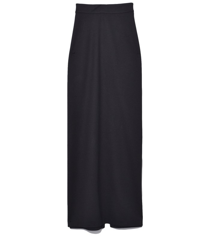 straight maxi skirt in black