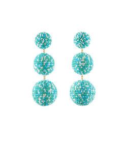 teal 'lara' earrings