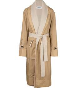 belted double-layer coat