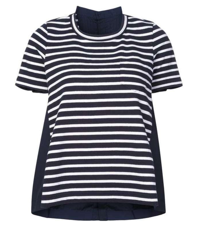 navy/white striped t-shirt