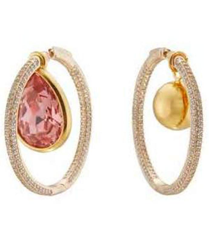 waratah hoop earrings