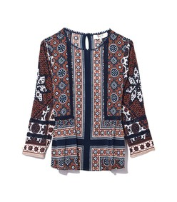 blue multicolor ezri blouse