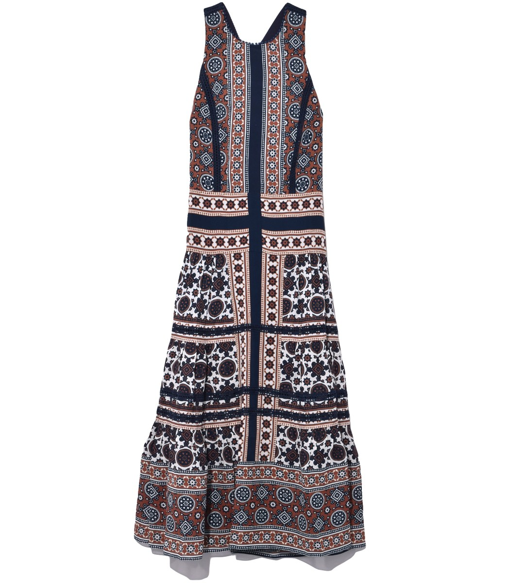 SEA Blue Multi Ezri Maxi Dress