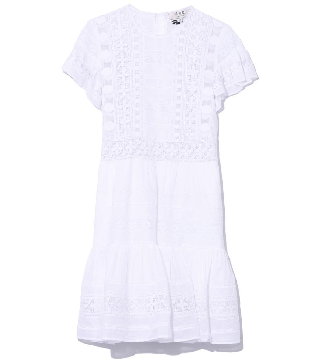 SEA White Cream Ila Tunic Dress