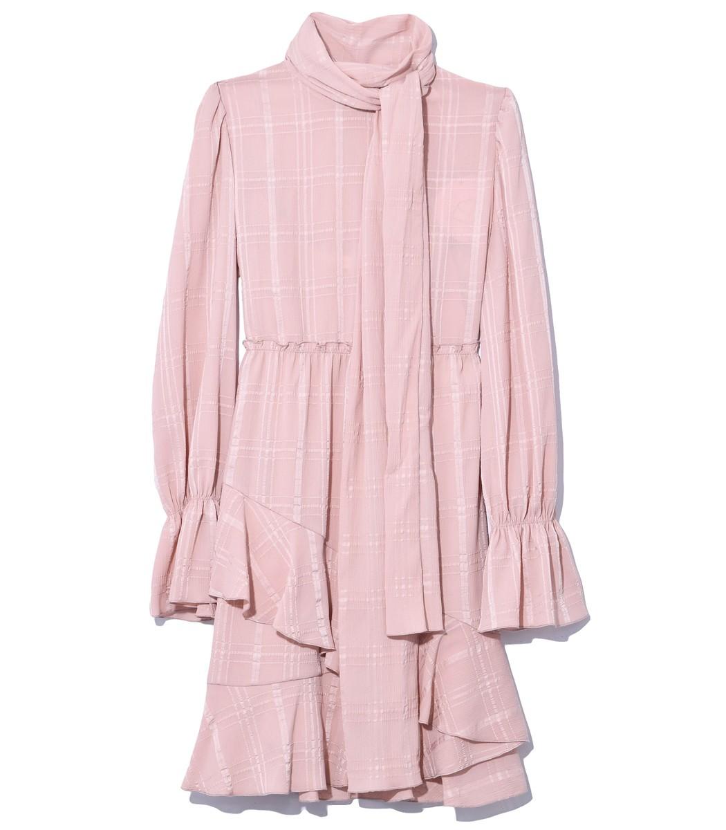 Smoky Pink Ascot Tie Dress