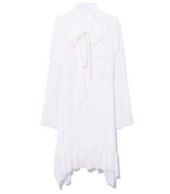 eden white neck tie dress