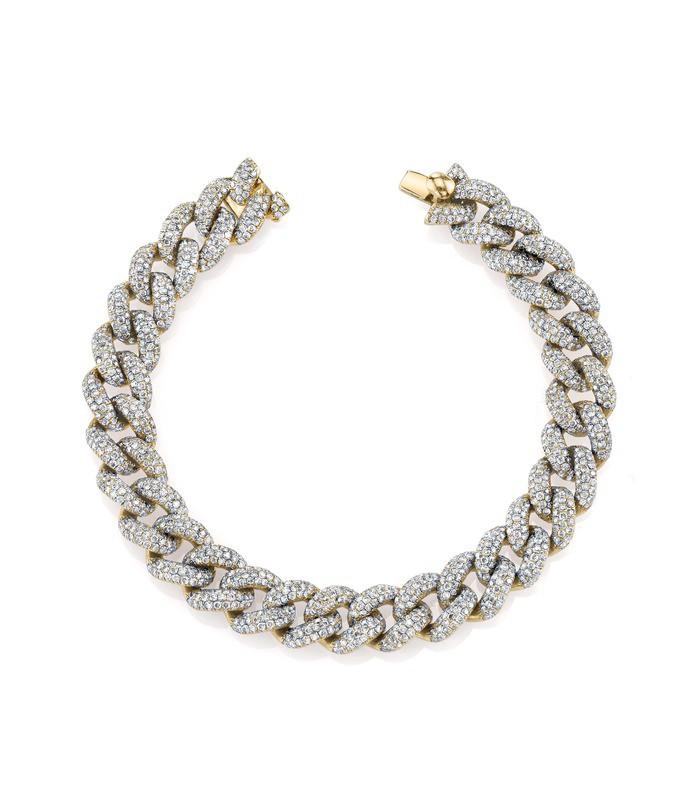 pave diamond essential link bracelet