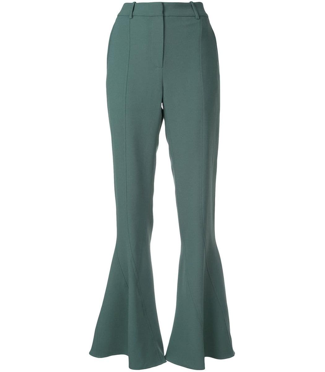Sies Marjan Green Flared Trousers