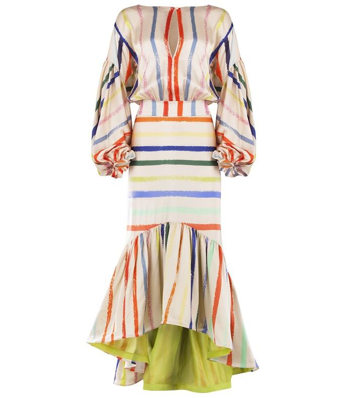 albahaca dress in pastel multi