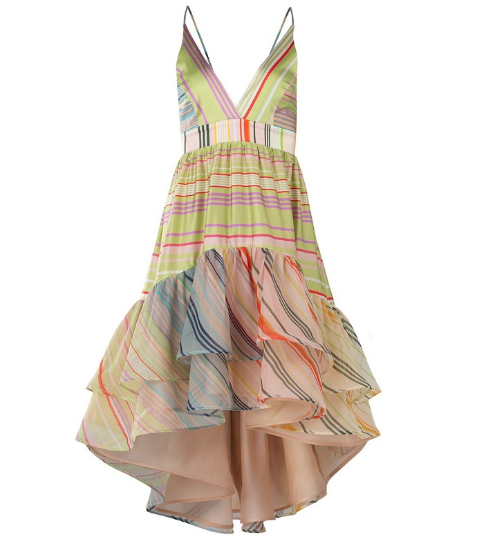 brianna dress in summer stripes