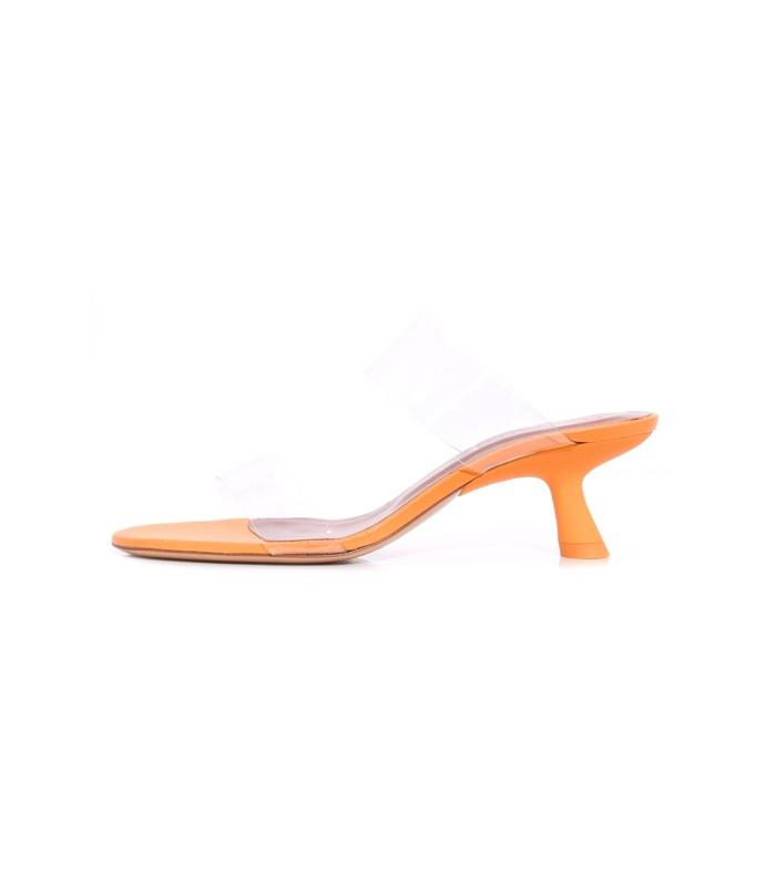 short tee heel in golden orange
