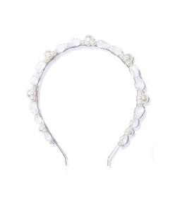 daisy hairband in clear/pearl