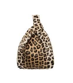 furrissima leather bag in animalier print