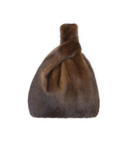 furrissima mink bag in brown