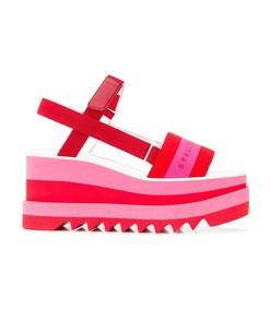 wedge logo sandals