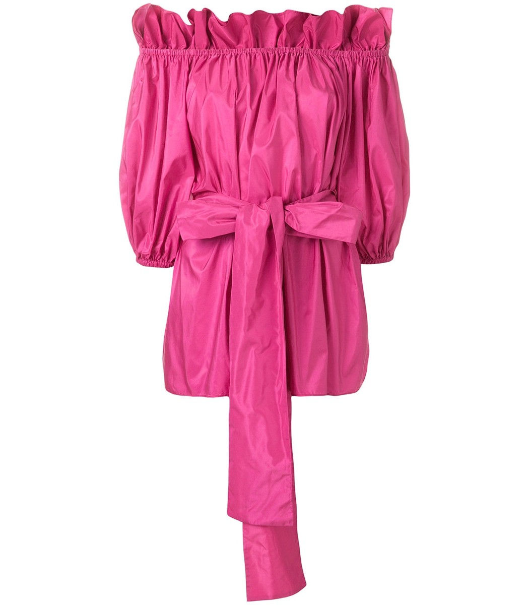 Buy Cheap Pick A Best Cheap Sale Footlocker off-the-shoulder belted blouse - Pink & Purple Stella McCartney Finishline Find Great Cheap Price 2018 Cool rDtco