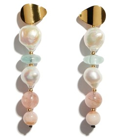 multicolor pastel column earrings