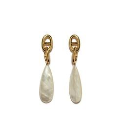 grotto drop earrings in pearl