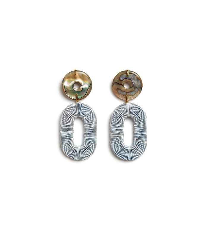 adriatic earrings in pale blue