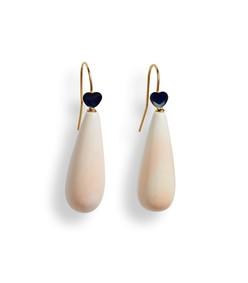 be mine earrings in dark blue/pink