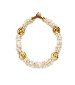 aphrodite collar in pearl
