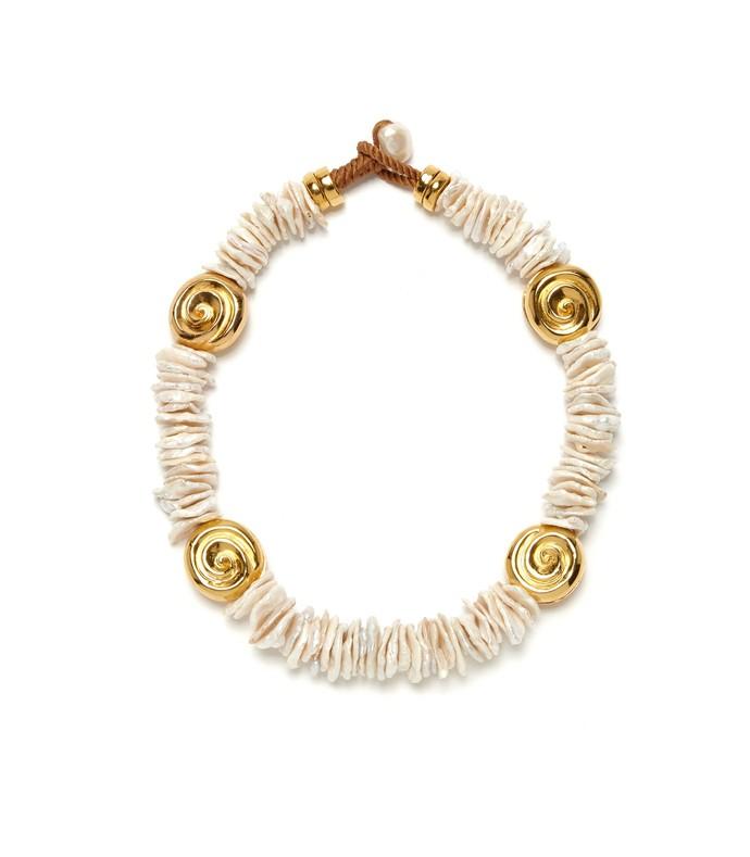 Aphrodite Collar in Pearl