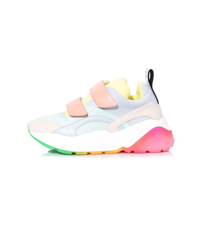 Eclypse Sneaker with Velcro in Prussian