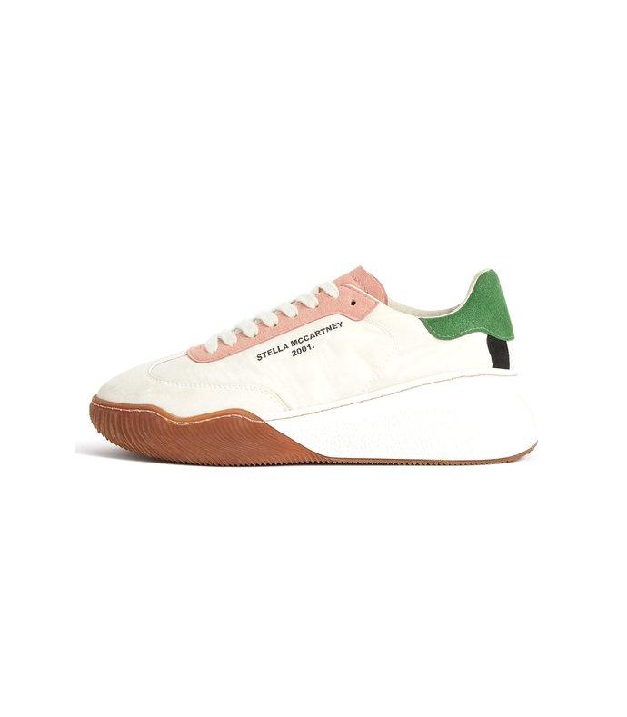 fabric sneaker in white/cream/mr