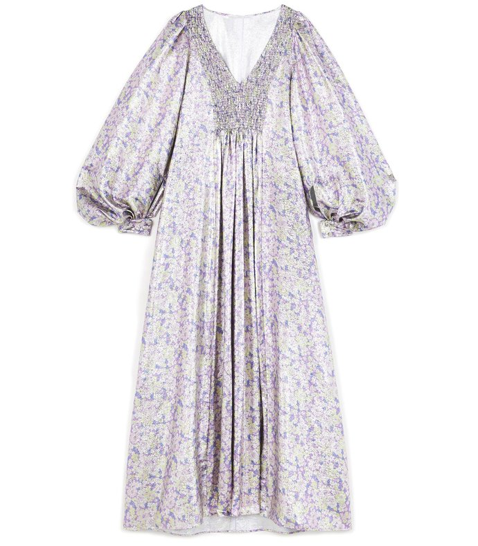 floral dress in multicolor lilac