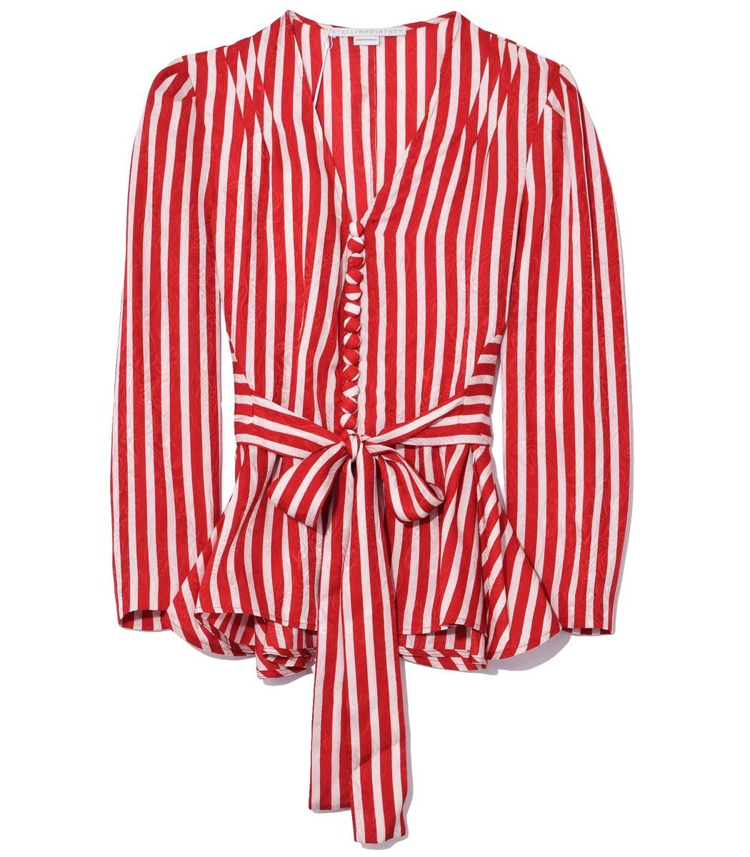 STELLA MCCARTNEY Bone/Lover Red Taylor Shirt