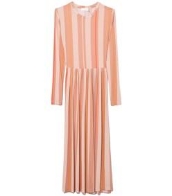 multicolor stripes wheat joel dress