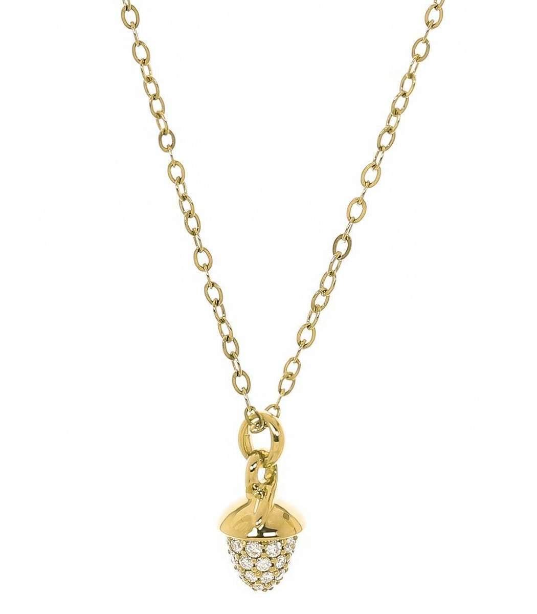 Tamara Comolli Yellow Gold Pave Diamond My Mikado Necklace