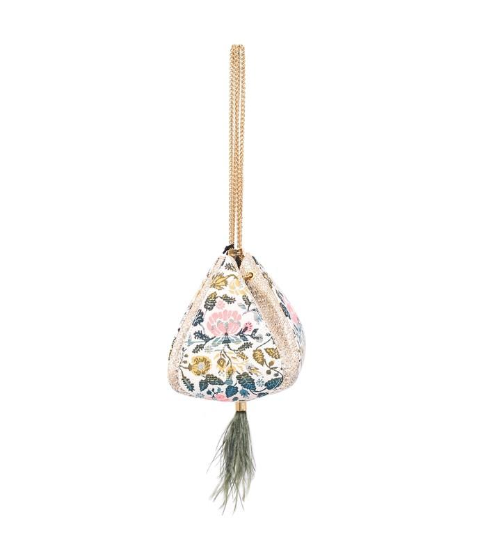 Cindy Flower Bag in Jacquard X sHop Bazaar