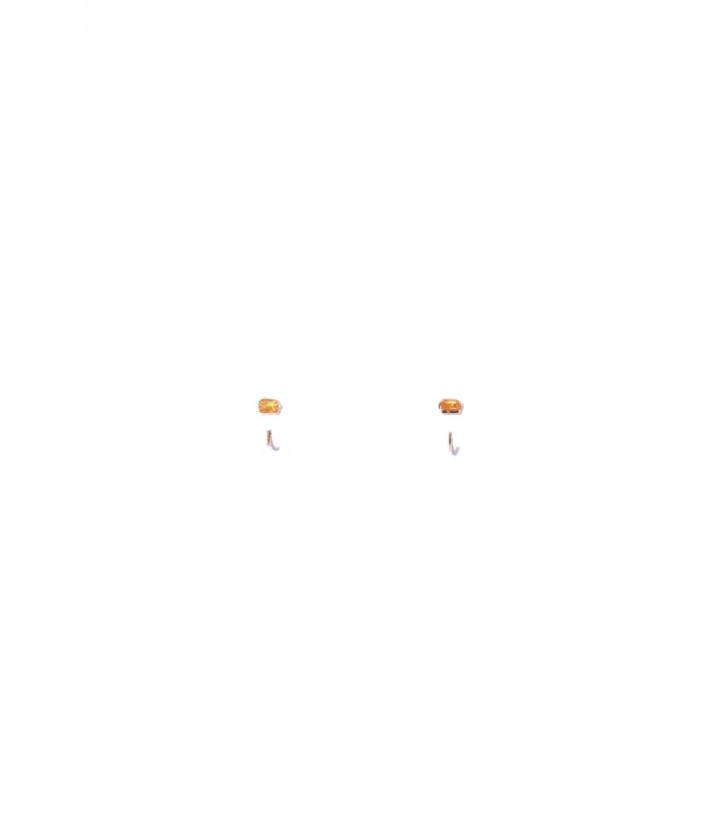 THEODOSIA Orange Sapphire Half Hoops
