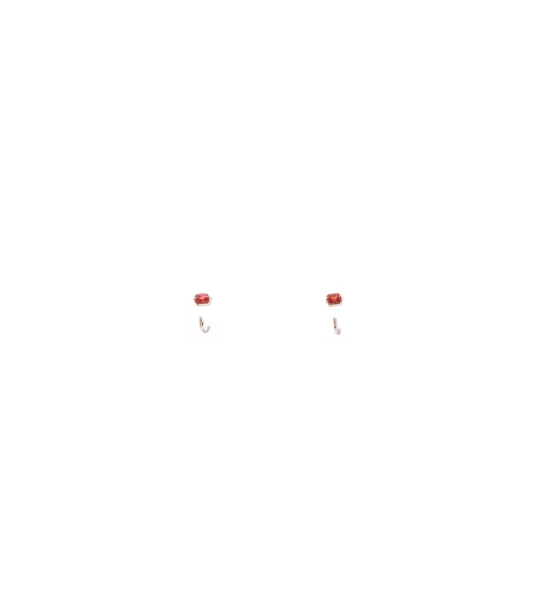 THEODOSIA Red Sapphire Half Hoops