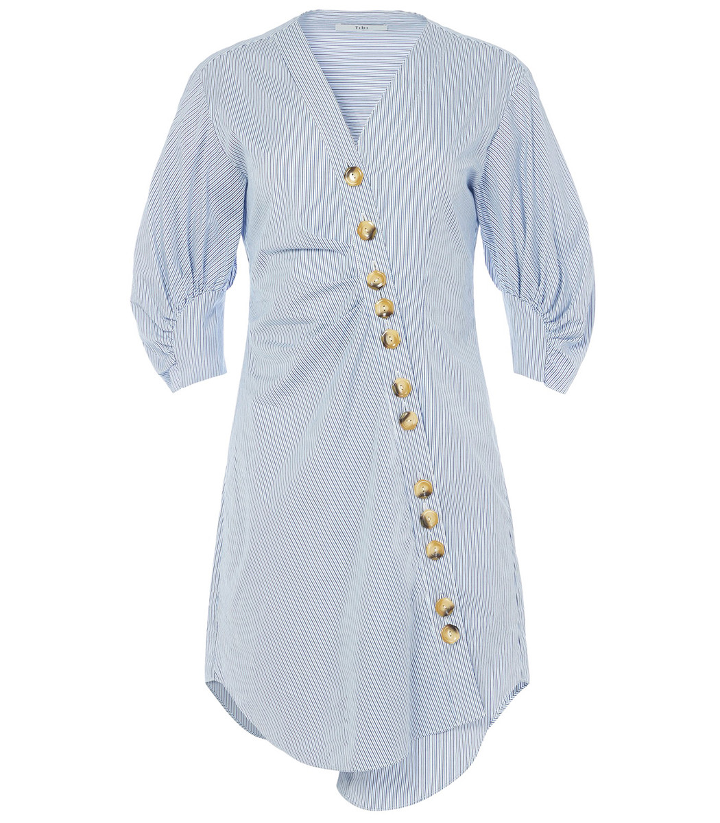 Blue Multi Jones Striped Shirt Dress by Shop Bazaar