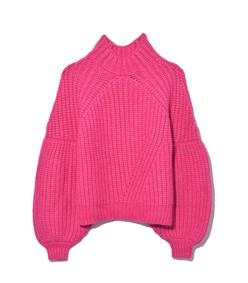 lucille pullover in fuchsia