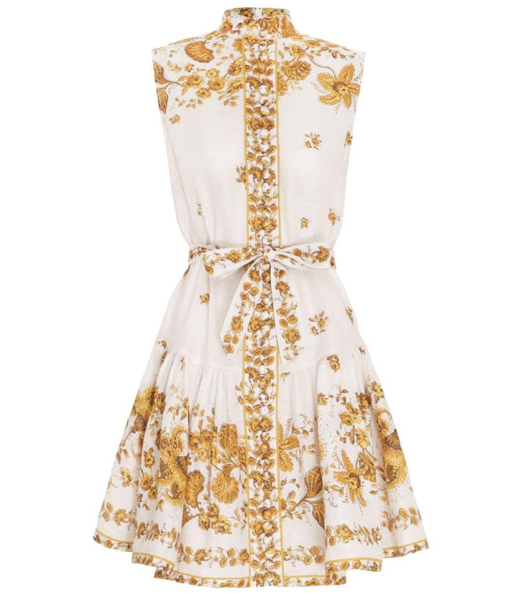 ZIMMERMANN Amelie Mini Sleeveless Paisley Dress