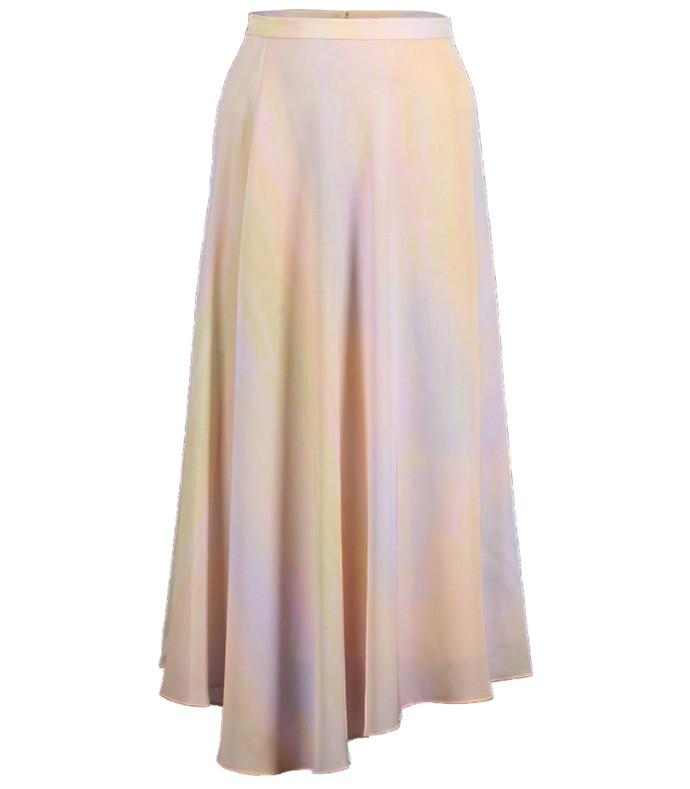 rainbow draped skirt