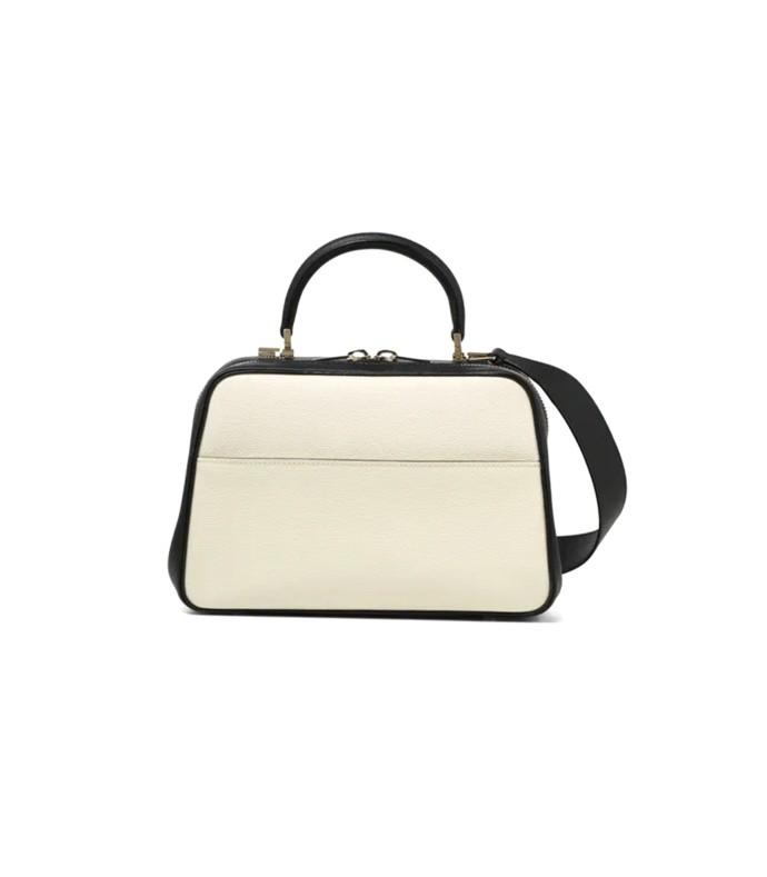 s series medium bag in white/black