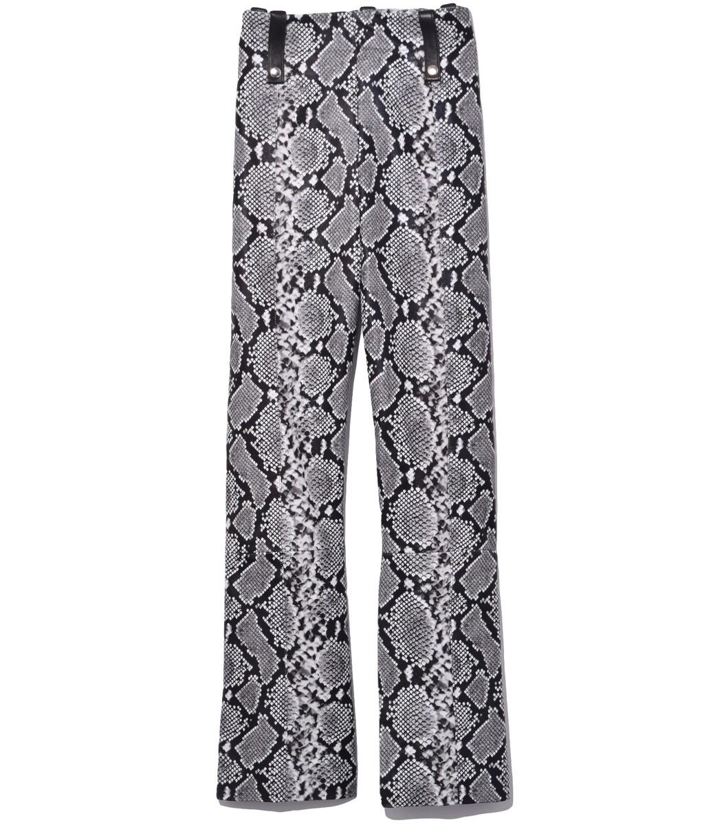Veda Black Snake Palmer Leather Pants