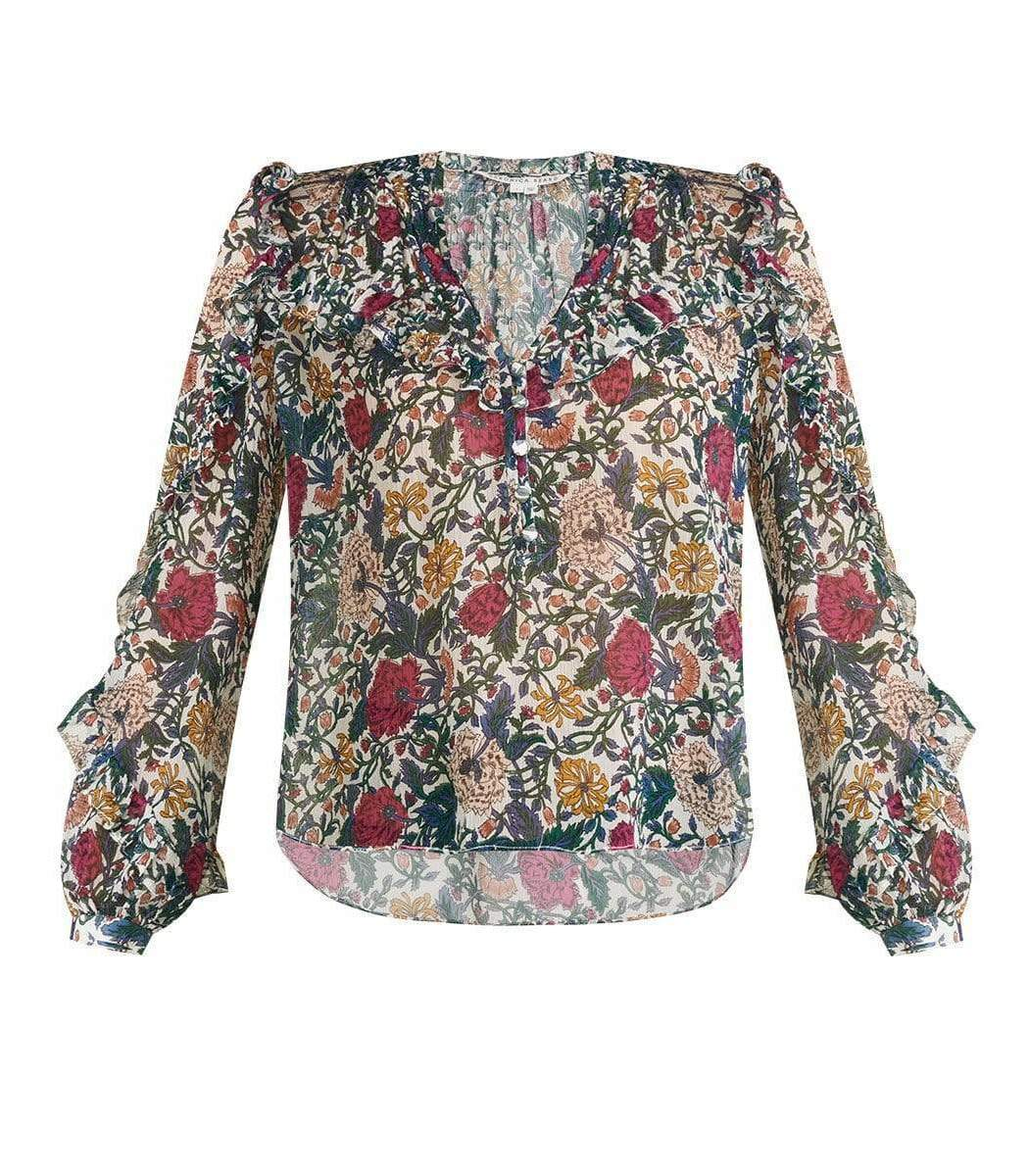 Veronica Beard Abra Floral Blouse