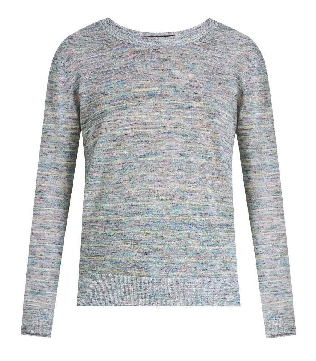 Veronica Beard Blue Henderson Space-Dyed Pullover
