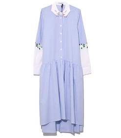 blue/white bishkek dress