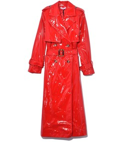 nerly trench coat in red