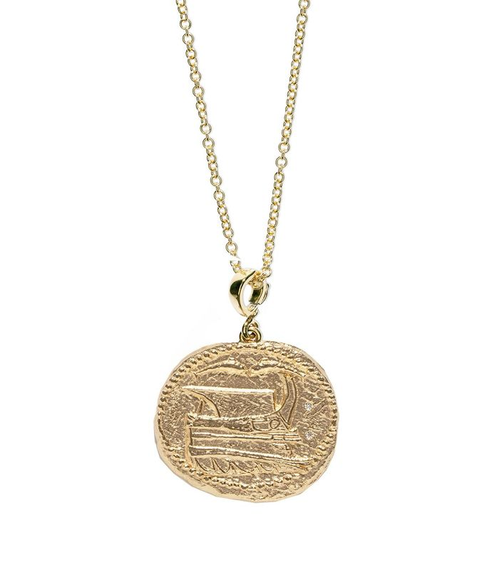voyager large coin necklace