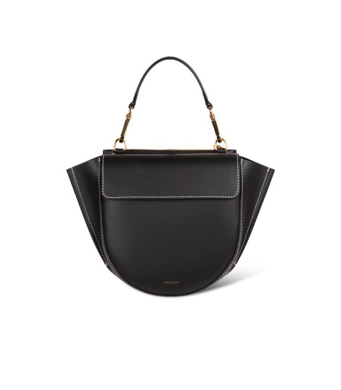 hortensia mini bag in black/white stitching
