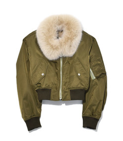 hunter green nylon bomber