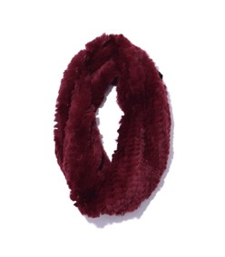 rex rabbit snood in burgundy