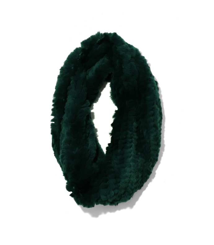 rex rabbit snood in green
